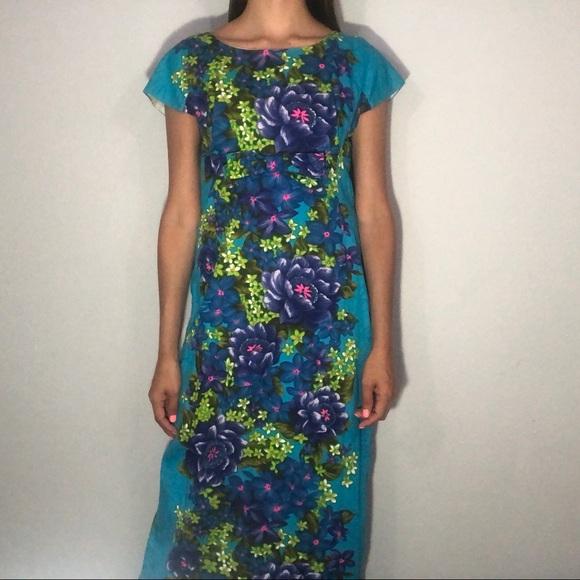 371a8efbd89a Vintage Dresses | 1960s Hawaiian Togs Floral Maxi Dress | Poshmark